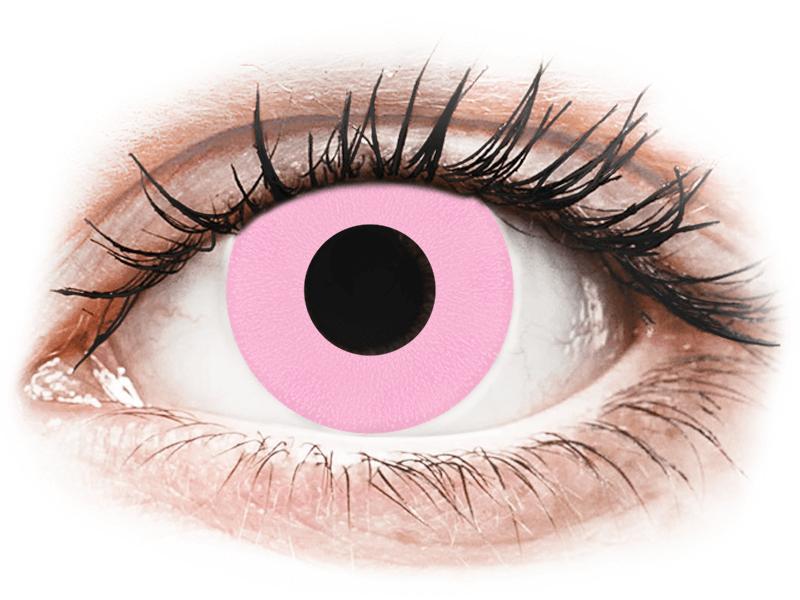 CRAZY LENS - Barbie Pink - dioptrické jednodenní (2 čočky) - Barevné kontaktní čočky