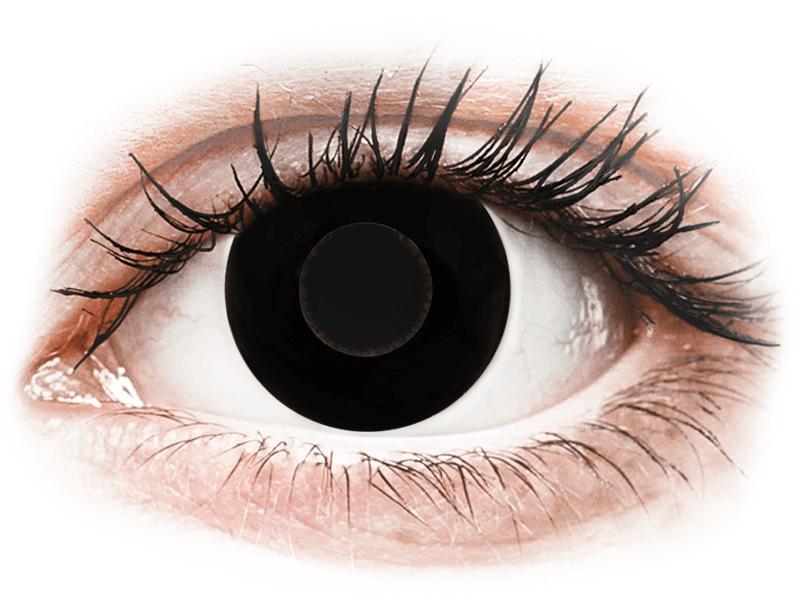 CRAZY LENS - Black Out - nedioptrické jednodenní (2 čočky) - Barevné kontaktní čočky