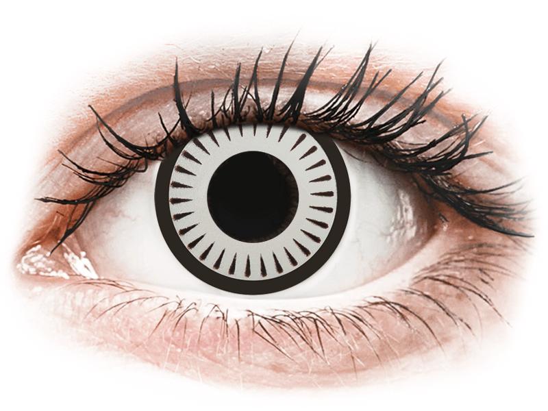 CRAZY LENS - Byakugan - dioptrické jednodenní (2 čočky) - Barevné kontaktní čočky
