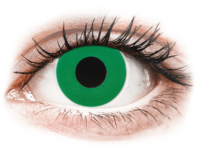 CRAZY LENS - Emerald Green - nedioptrické jednodenní (2 čočky) - Barevné kontaktní čočky