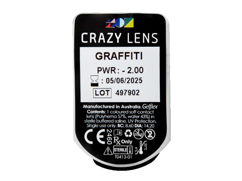 CRAZY LENS - Graffiti - dioptrické jednodenní (2 čočky)