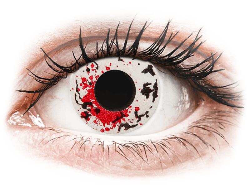 CRAZY LENS - Graffiti - dioptrické jednodenní (2 čočky) - Barevné kontaktní čočky
