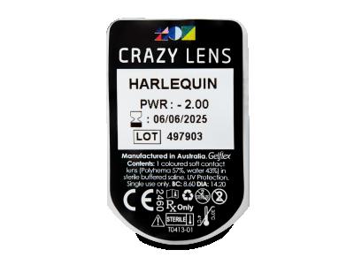 CRAZY LENS - Harlequin - dioptrické jednodenní (2 čočky)