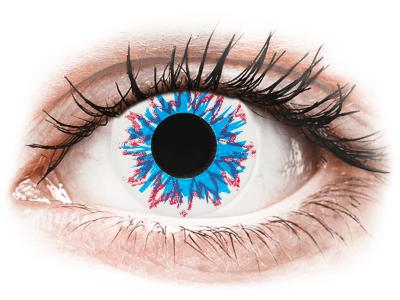 CRAZY LENS - Harlequin - dioptrické jednodenní (2 čočky) - Barevné kontaktní čočky