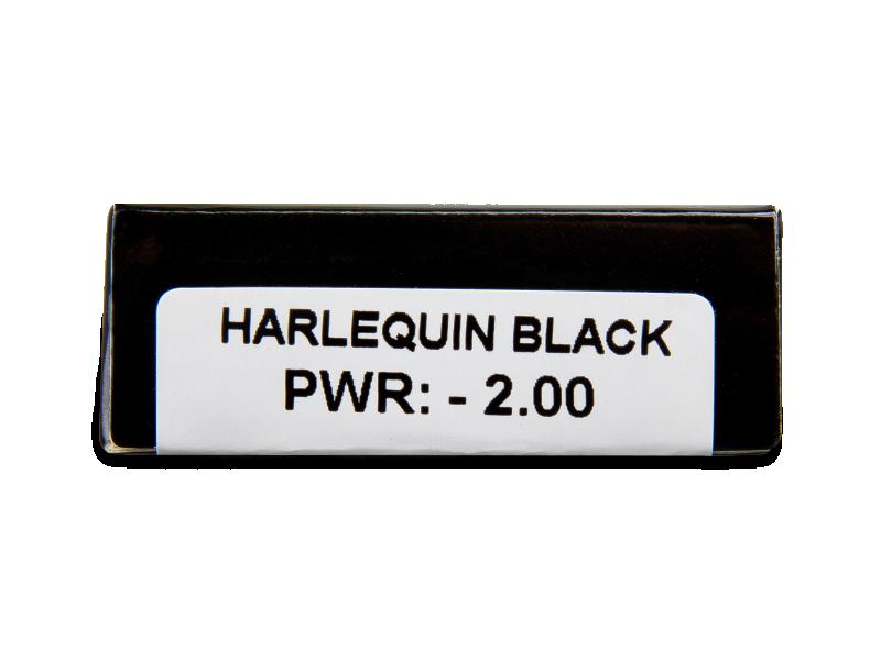 CRAZY LENS - Harlequin Black - dioptrické jednodenní (2 čočky)