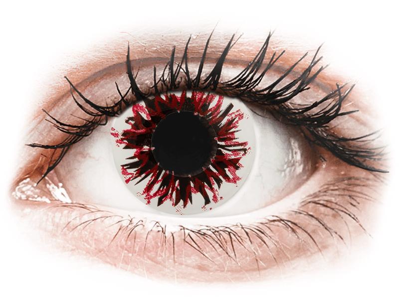 CRAZY LENS - Harlequin Black - dioptrické jednodenní (2 čočky) - Barevné kontaktní čočky