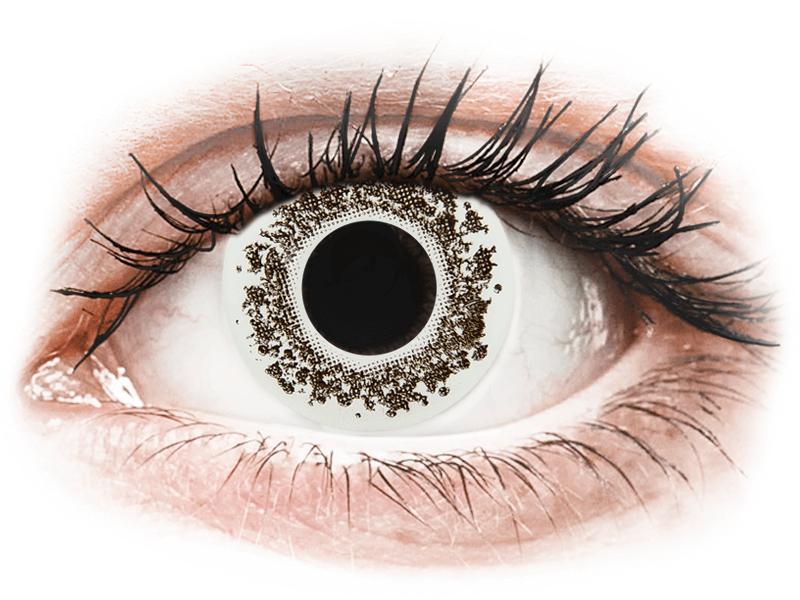 CRAZY LENS - Lord Snow - dioptrické jednodenní (2 čočky) - Barevné kontaktní čočky