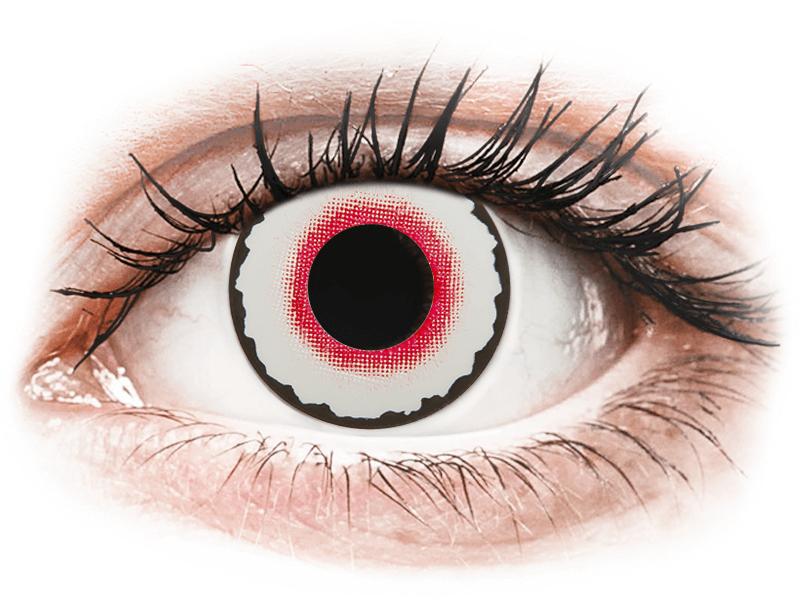 CRAZY LENS - Mad Clown - dioptrické jednodenní (2 čočky) - Barevné kontaktní čočky