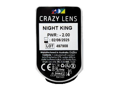 CRAZY LENS - Night King - dioptrické jednodenní (2 čočky)