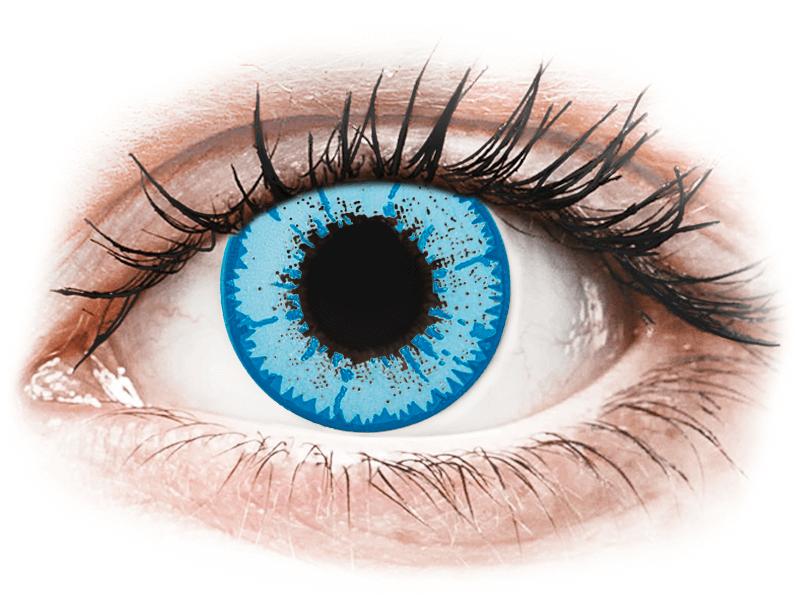 CRAZY LENS - Night King - dioptrické jednodenní (2 čočky) - Barevné kontaktní čočky