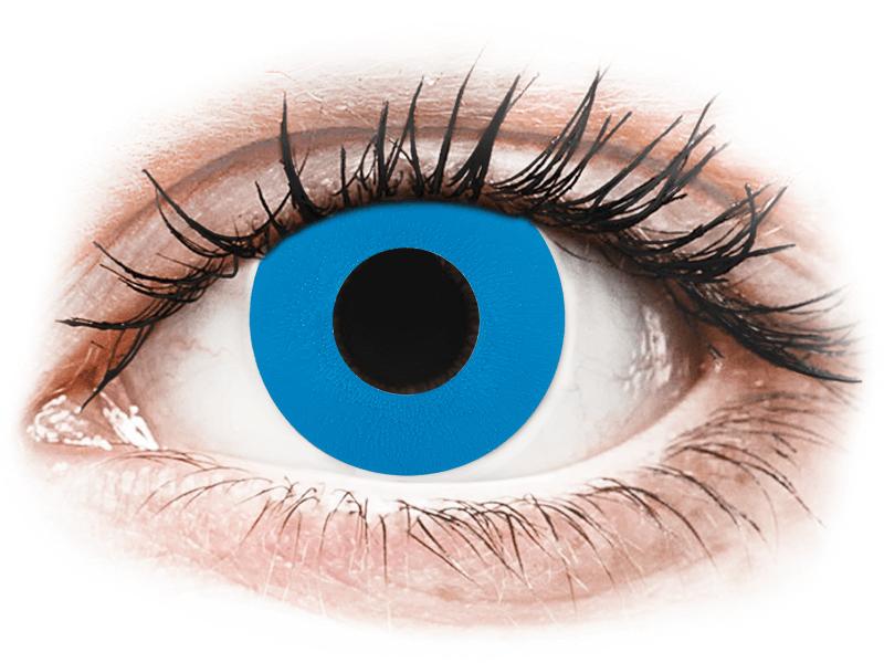 CRAZY LENS - Sky Blue - nedioptrické jednodenní (2 čočky) - Barevné kontaktní čočky