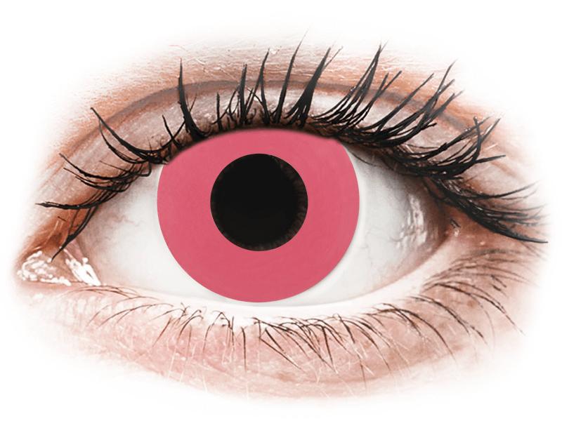 CRAZY LENS - Solid Rose - dioptrické jednodenní (2 čočky) - Barevné kontaktní čočky