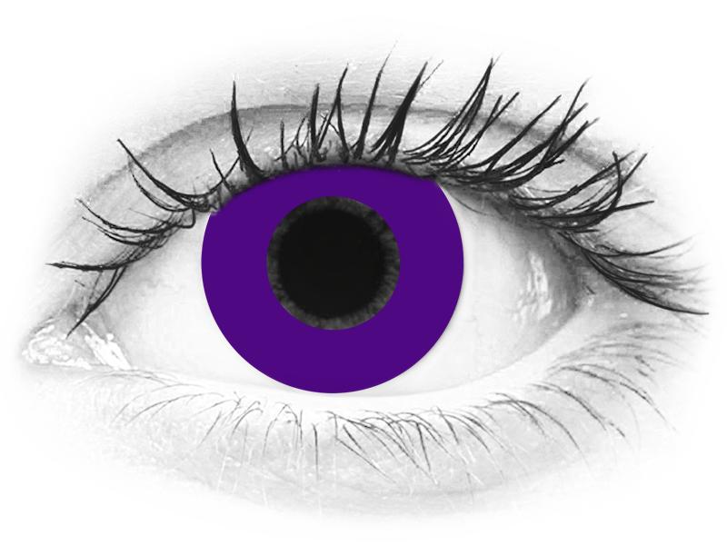 CRAZY LENS - Solid Violet - dioptrické jednodenní (2 čočky)