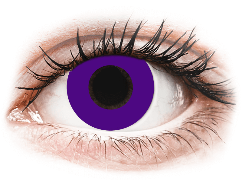 CRAZY LENS - Solid Violet - dioptrické jednodenní (2 čočky) - Barevné kontaktní čočky