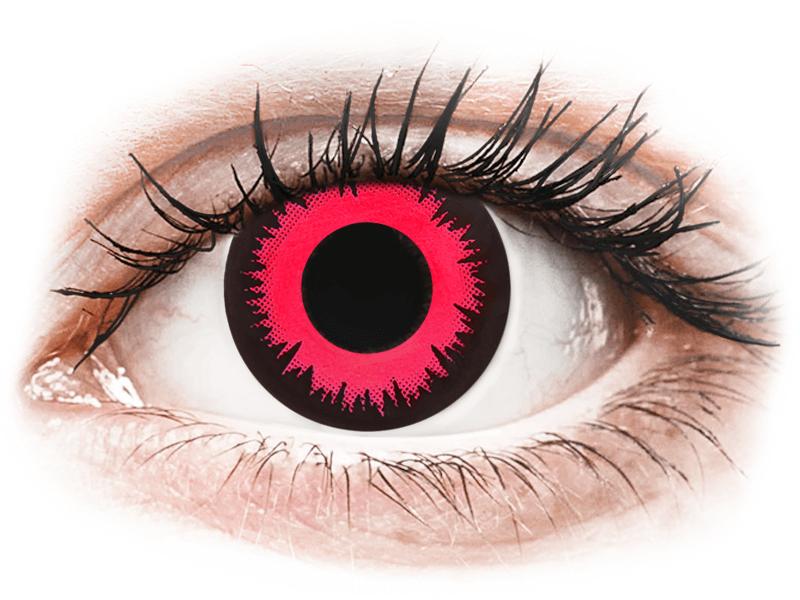 CRAZY LENS - Vampire Queen - nedioptrické jednodenní (2 čočky) - Barevné kontaktní čočky