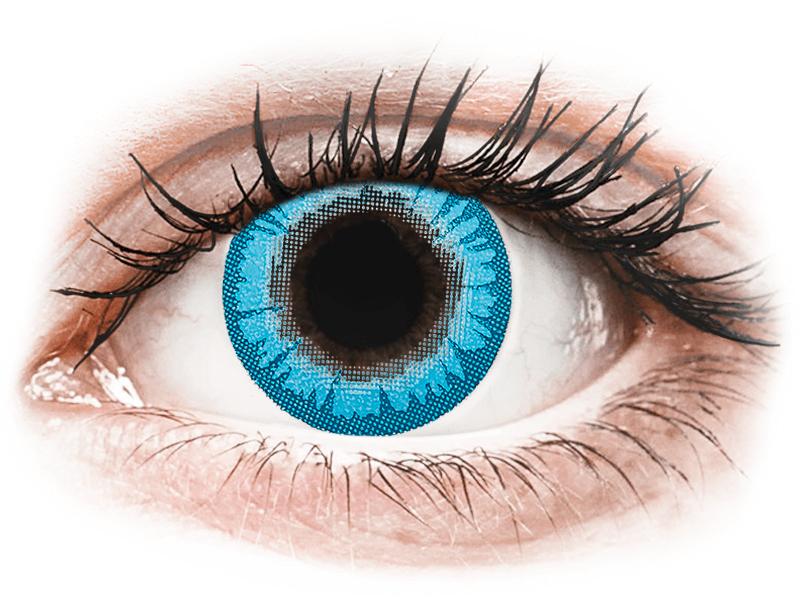 CRAZY LENS - White Walker - dioptrické jednodenní (2 čočky) - Barevné kontaktní čočky