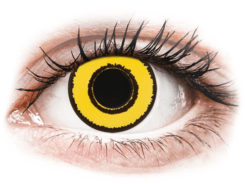 CRAZY LENS - Yellow Twilight - dioptrické jednodenní (2 čočky) - Barevné kontaktní čočky