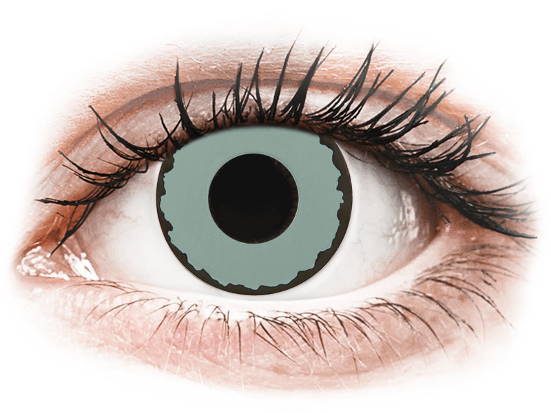 CRAZY LENS - Zombie Virus - nedioptrické jednodenní (2 čočky) - Barevné kontaktní čočky