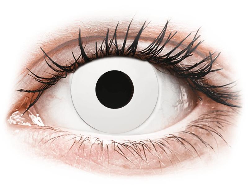 CRAZY LENS - WhiteOut - dioptrické jednodenní (2 čočky) - Barevné kontaktní čočky