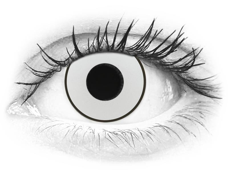 CRAZY LENS - White Black - dioptrické jednodenní (2 čočky)