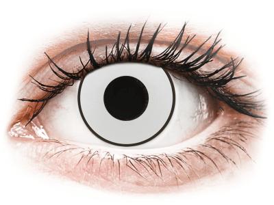 CRAZY LENS - White Black - dioptrické jednodenní (2 čočky) - Barevné kontaktní čočky