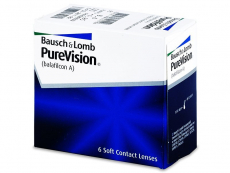 Měsíční levné kontaktní čočky - PureVision (6čoček)