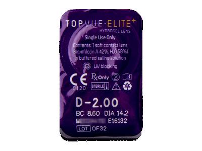 TopVue Elite+ (30 čoček) - Vzhled blistru s čočkou