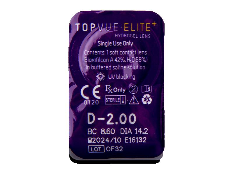 TopVue Elite+ (180 čoček) - Vzhled blistru s čočkou