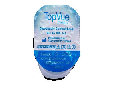 TopVue Daily (90 čoček) - Vzhled blistru s čočkou
