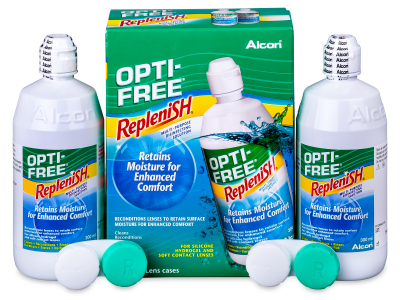Roztok OPTI-FREE RepleniSH 2 x 300 ml  - Economy duo pack- solution