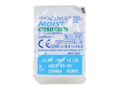 1 Day Acuvue Moist Multifocal (90 čoček) - Vzhled blistru s čočkou