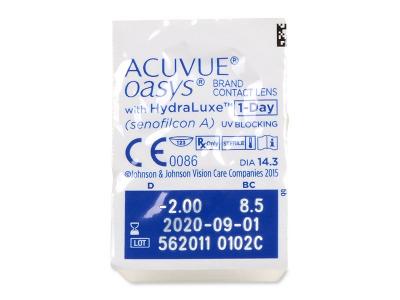 Acuvue Oasys 1-Day (30 čoček) - Vzhled blistru s čočkou
