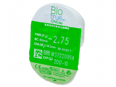 Biotrue ONEday (90čoček) - Vzhled blistru s čočkou