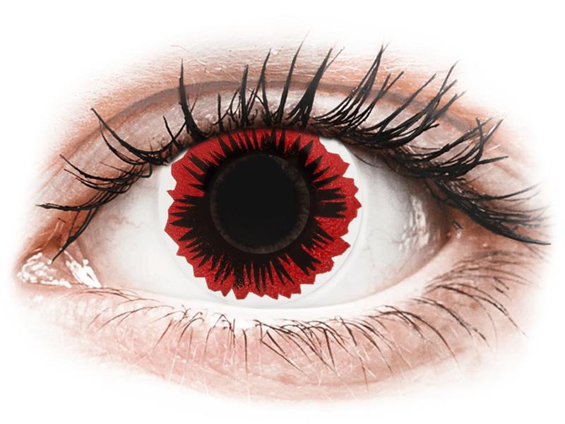 ColourVUE Crazy Lens - Blaze - nedioptrické (2 čočky) - Barevné kontaktní čočky