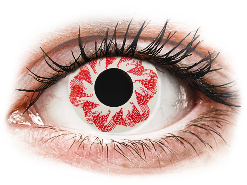 CRAZY LENS - Atom Bomb - nedioptrické jednodenní (2 čočky) - Barevné kontaktní čočky