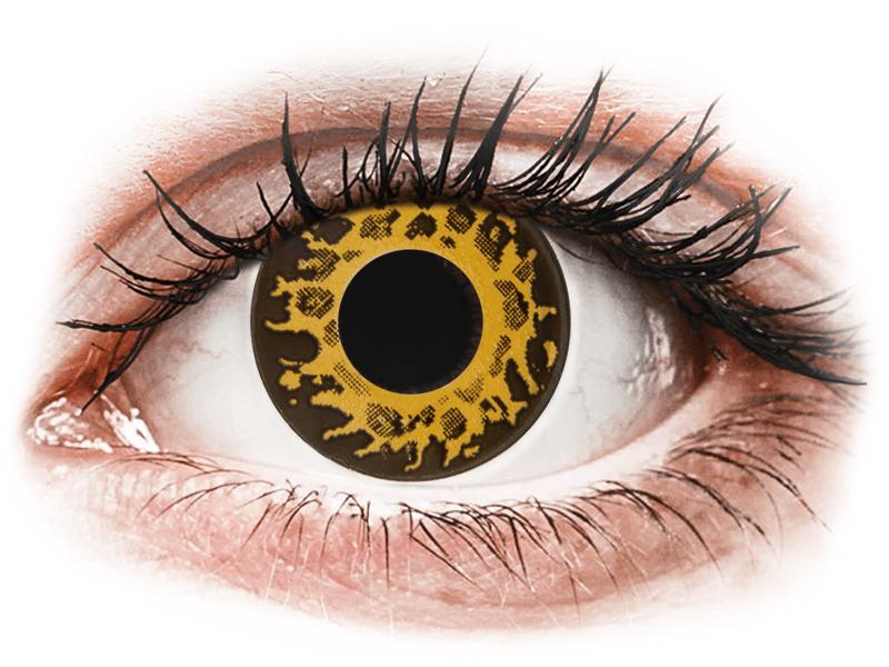 CRAZY LENS - Cheetah - nedioptrické jednodenní (2 čočky) - Barevné kontaktní čočky