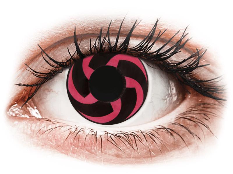 CRAZY LENS - Haku - nedioptrické jednodenní (2 čočky) - Barevné kontaktní čočky