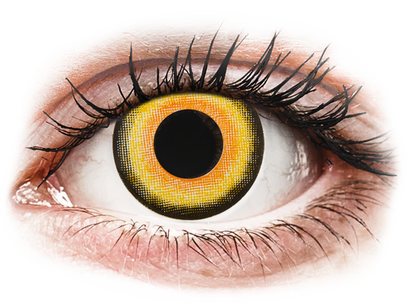 CRAZY LENS - Midnight Sun - nedioptrické jednodenní (2 čočky) - Barevné kontaktní čočky