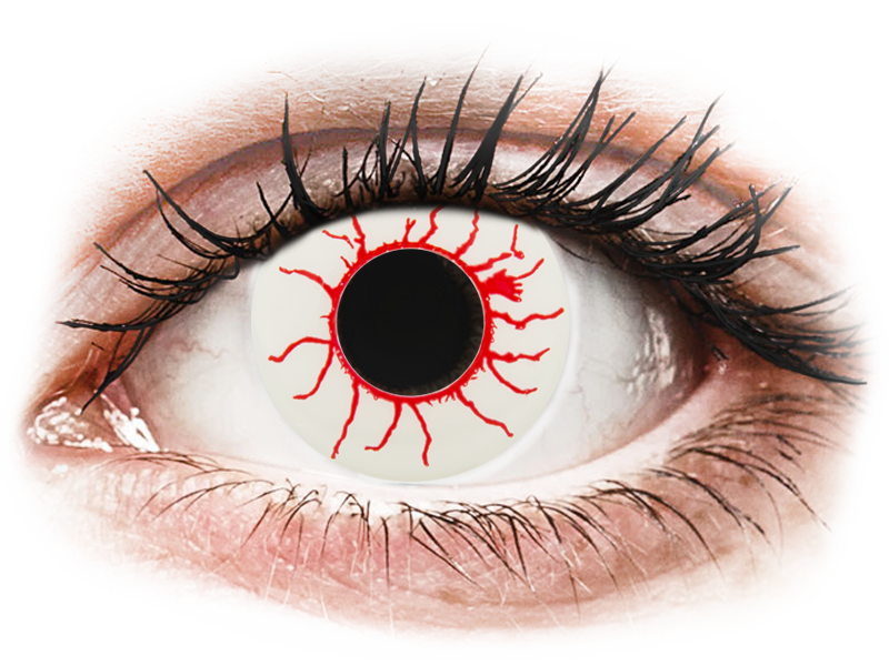 CRAZY LENS - Red Viper - nedioptrické jednodenní (2 čočky) - Barevné kontaktní čočky