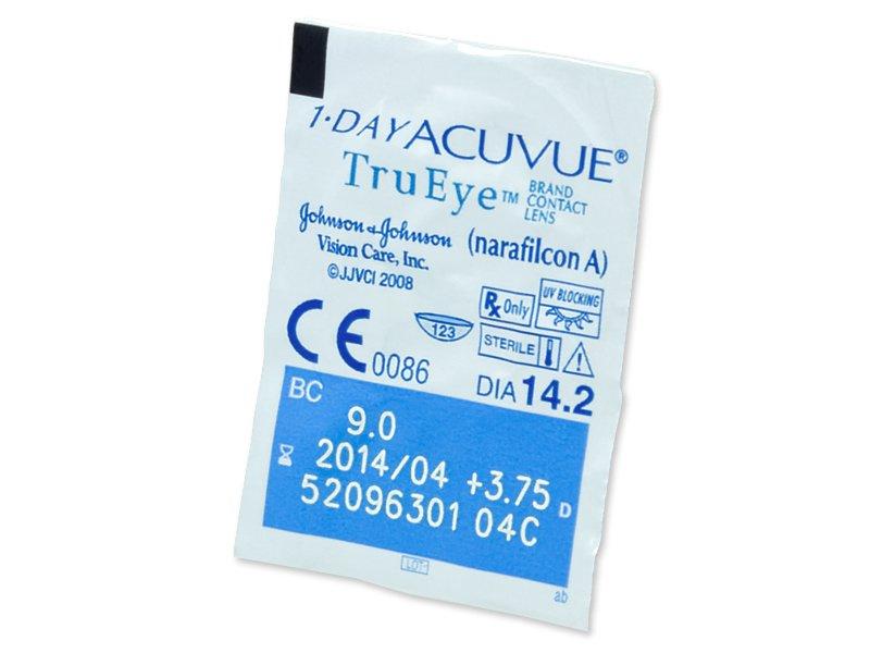 1 Day Acuvue TruEye (90čoček) - Vzhled blistru s čočkou