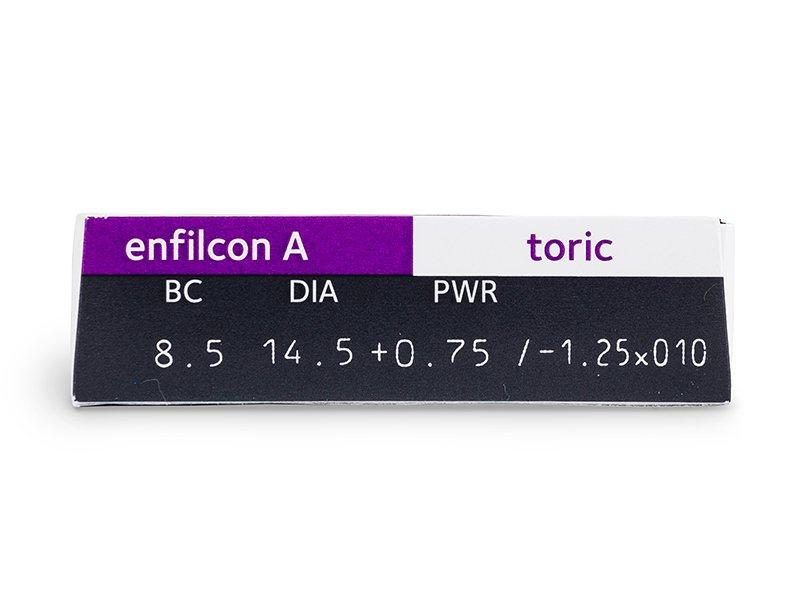 Avaira Toric (3 čočky) - Náhled parametrů čoček