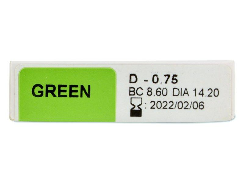 TopVue Color - dioptrické jednodenní (10čoček) - Náhled parametrů čoček