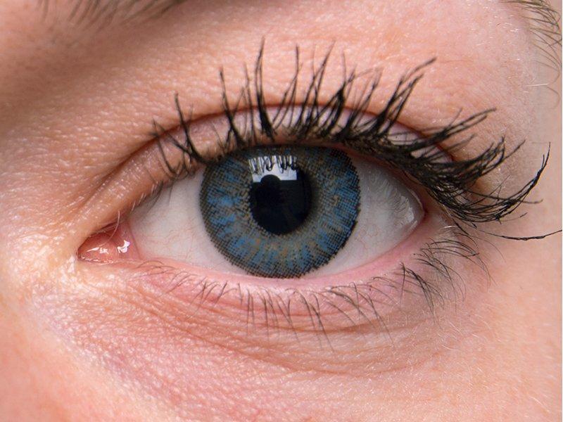 TopVue Color - nedioptrické jednodenní (10čoček) - Blue na šedém oku