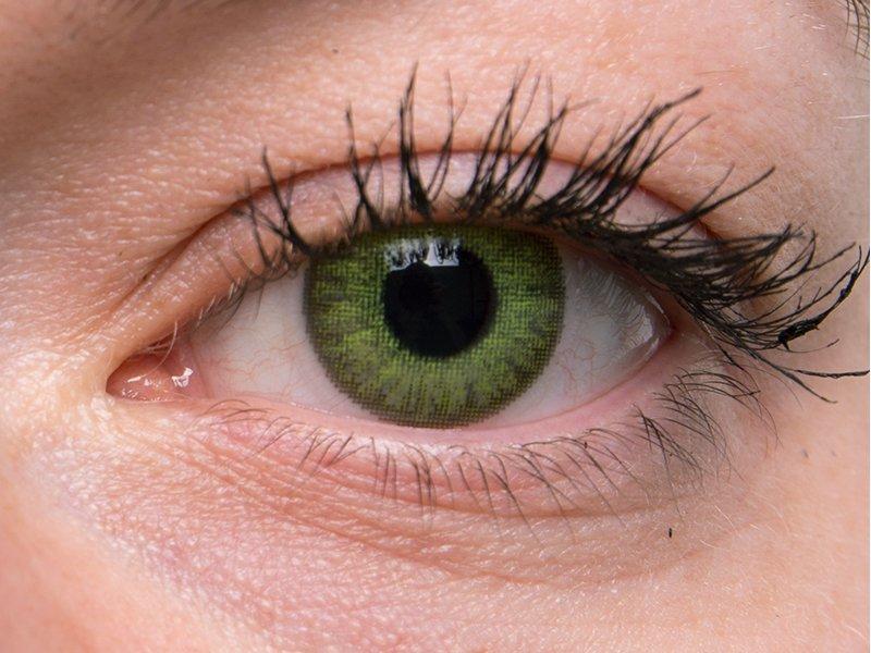 TopVue Color - nedioptrické jednodenní (10čoček) - Fresh green na šedém oku