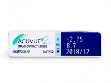 Acuvue 2 (6čoček) - Náhled parametrů čoček