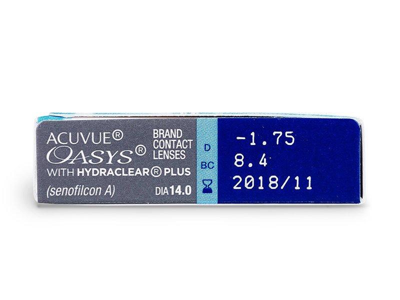 Acuvue Oasys (6čoček) - Náhled parametrů čoček