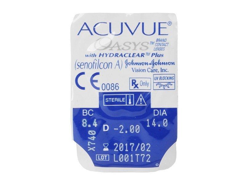 Acuvue Oasys (6čoček) - Vzhled blistru s čočkou