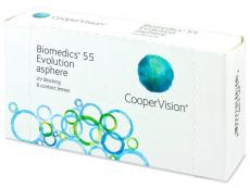 Měsíční levné kontaktní čočky - Biomedics 55 Evolution (6čoček)