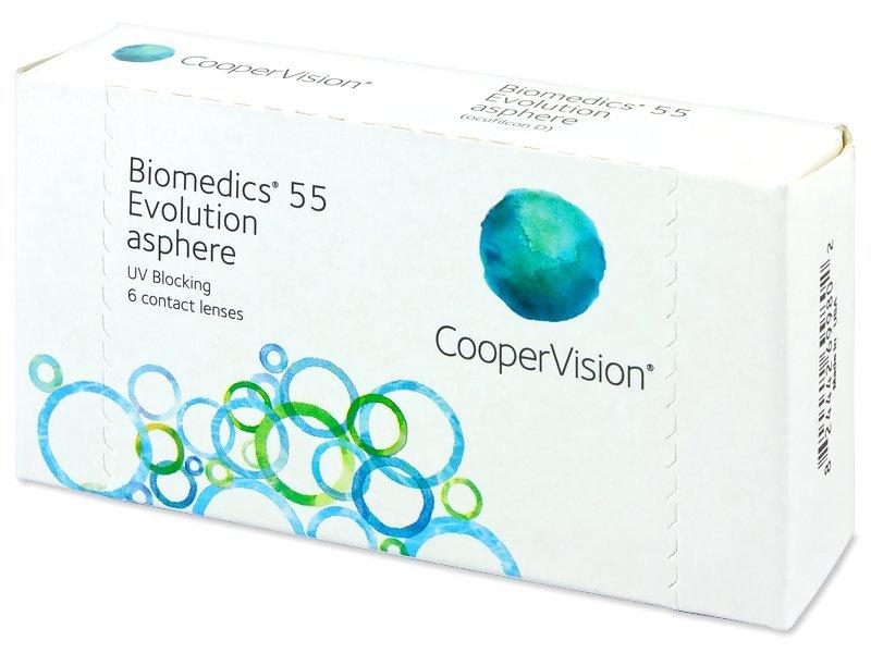 Biomedics 55 Evolution (6čoček) - Měsíční kontaktní čočky