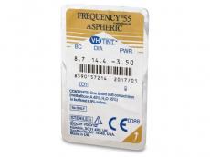 Frequency 55 Aspheric (6čoček) - Vzhled blistru s čočkou